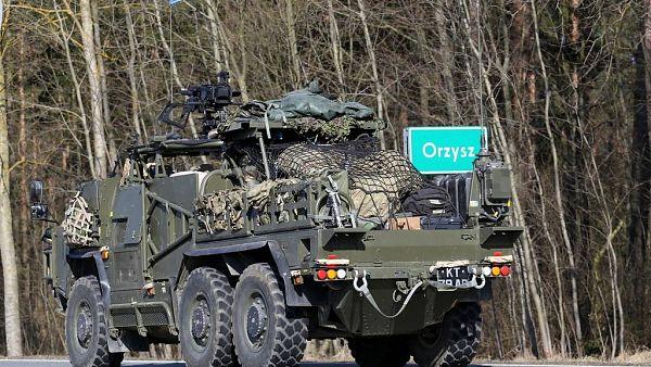 Batalionowa Grupa Bojowa NATO dotarła do Orzysza