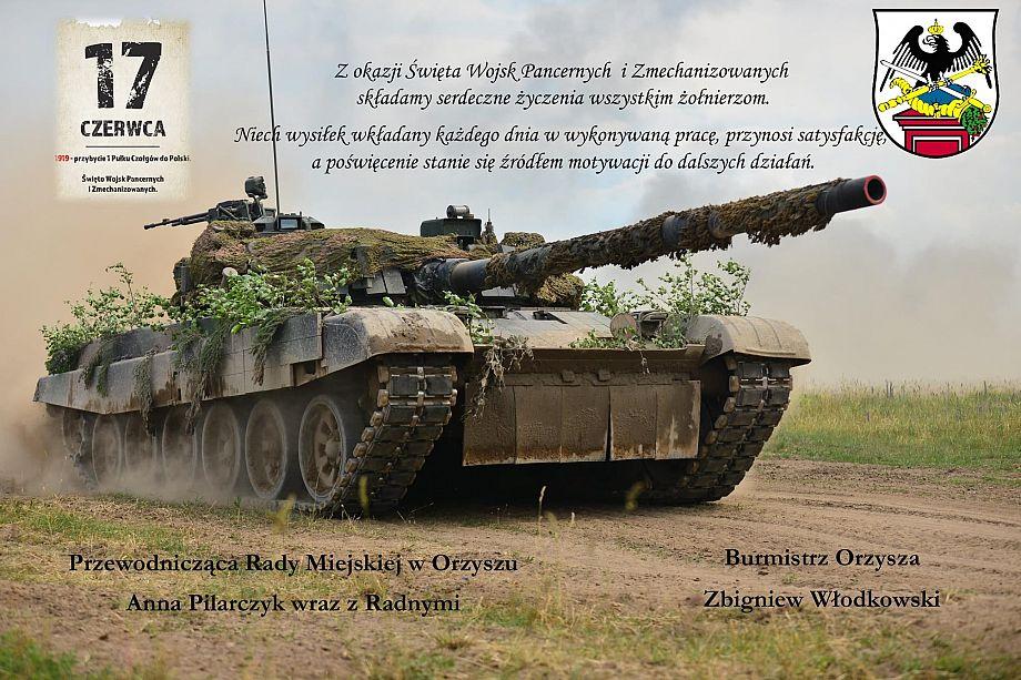 Życzenia z okazji Święta Wojsk Pancernych i Zmechanizowanych
